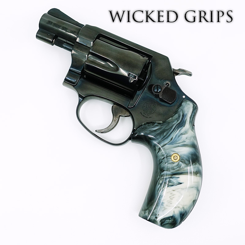 SMITH AND WESSON J FRAME GUN GRIPS REPLICATED BUFFALO HORN
