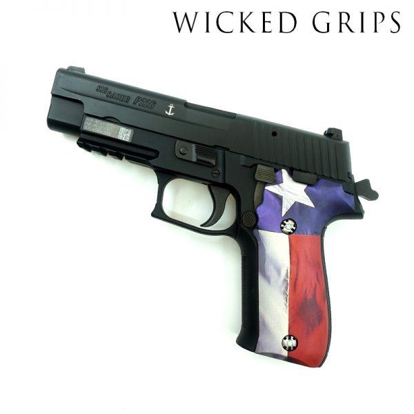 CUSTOM SIG SAUER P226 PISTOL GRIPS TEXAS FLAG V2