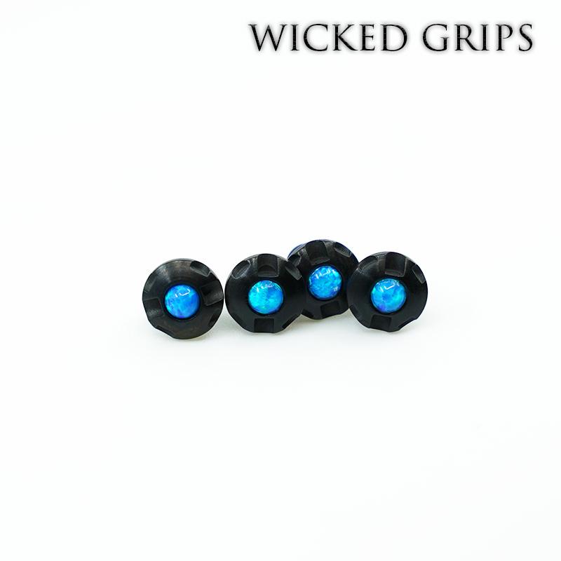 1911 Custom Grip Screws Gemstone-BLACK PVD