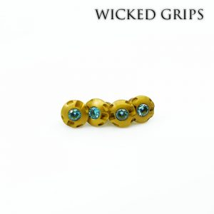 1911 Custom Grip Screws Gemstone-GOLD PVD