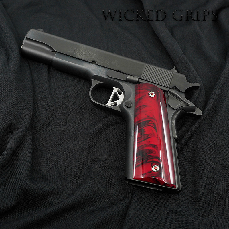 1911 PISTOL GRIPS SYNTHETIC RED JASPER