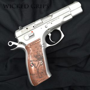 CUSTOM CZ 75 PISTOL GRIPS DEATH TAROT COPPER