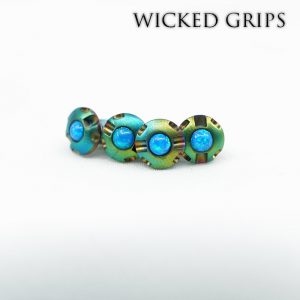1911 Custom Grip Screws Gemstone-RAINBOW PVD