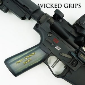 CUSTOM AR-15 PISTOL GRIP FRONT TOWARDS ENEMY
