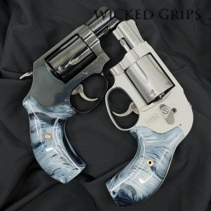 SMITH & WESSON J FRAME REVOLVER GRIPS REPLICATED BUFFALO HORN