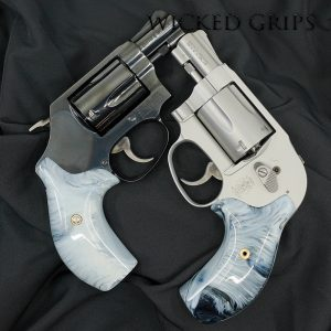 SMITH WESSON J FRAME REVOLVER GRIPS REPLICATED BUFFALO HORN