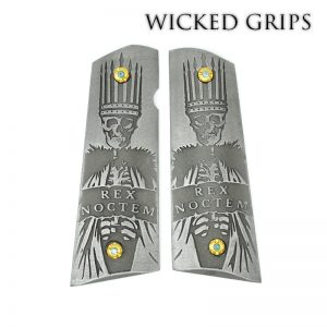 CUSTOM 1911 PISTOL GRIPS REX NOCTEM NIGHT KING STAINLESS