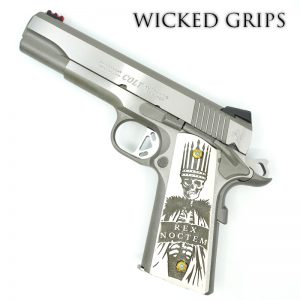 CUSTOM 1911 PISTOL GRIPS REX NOCTEM NIGHT KING FAUX IVORY