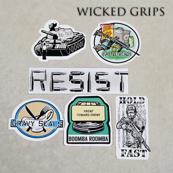 Wicked Grip Sticker Pack #3