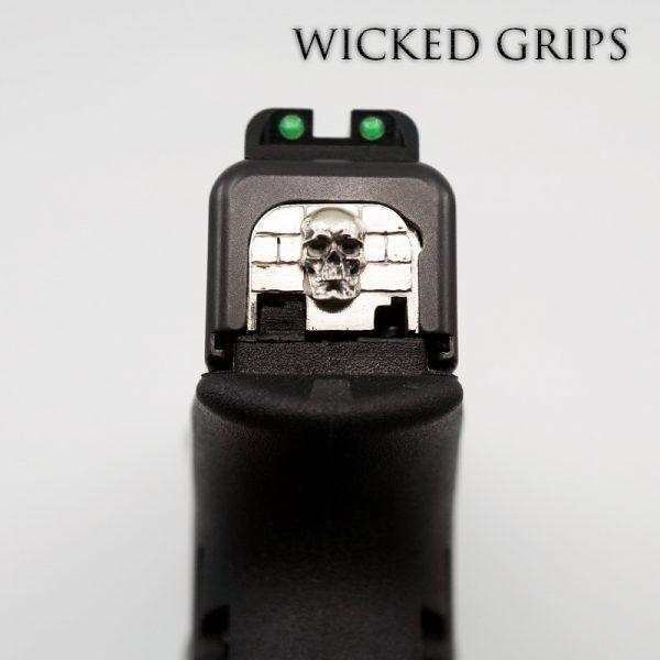 WICKED GRIPS GLOCK SLIDE PLATE PURE SILVER SKULL GEN 1-4