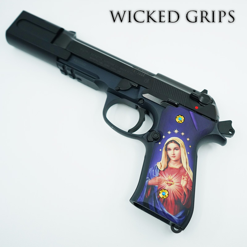 Beretta 92 Custom Pistol Grip Screws - Gold PVD