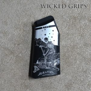 CUSTOM AR-15 PISTOL GRIP BLACK DEATH TAROT