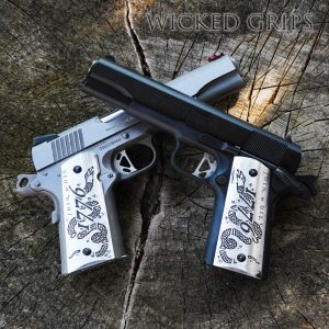 CUSTOM 1911 PISTOL GRIPS DEEP ENGRAVED JOIN OR DIE