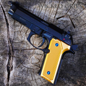 BERETTA 92 VERTEC M9A3 COLORED CHECKERED GRIPS