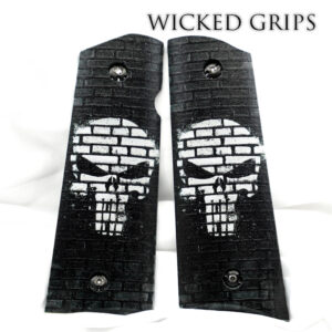CUSTOM 1911 PISTOL GRIPS PUNISHER GRAFFITI