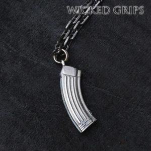 Silver AK-47 Magazine Pendant