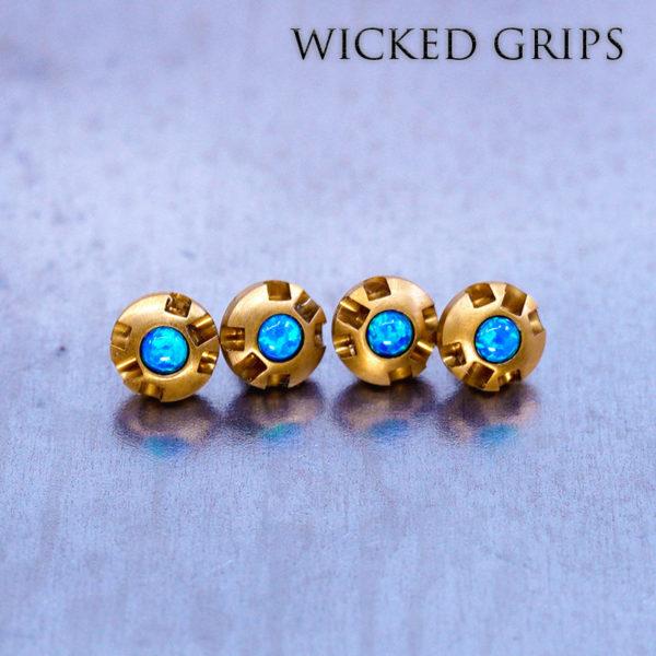 Kimber Micro Gemstone GOLD PVD Grip Screws
