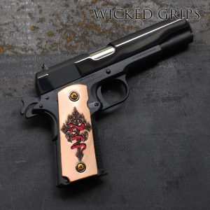 1911 DEER LEATHER INDEN-YA CROSS GRIPS by RISE